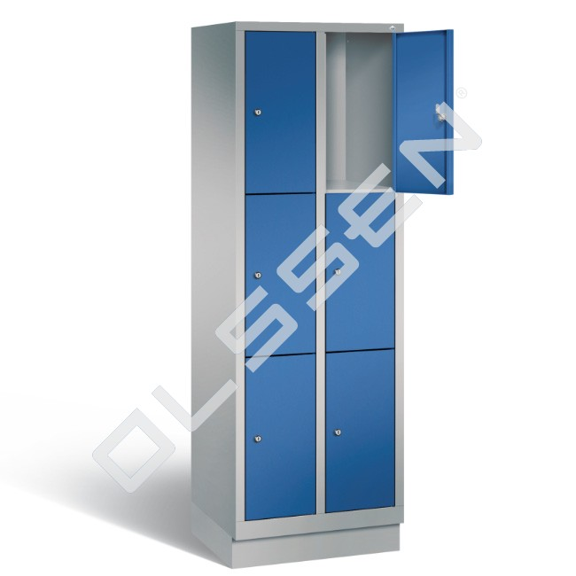 Polar metalen locker met 6 vakken 30 cm breed per vak for Ladenblok 30 cm breed