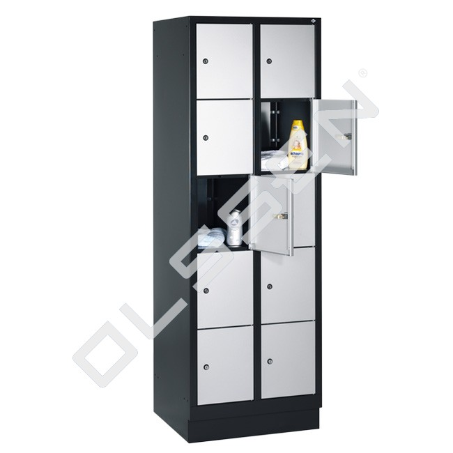 Polar metalen locker met 10 vakken 30 cm breed per vak for Ladenblok 30 cm breed