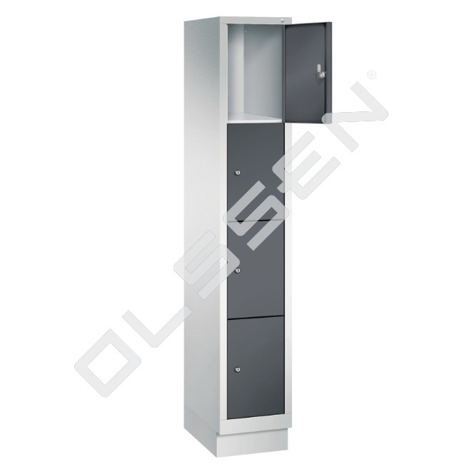 Polar metalen locker met 4 vakken 30 cm breed per vak for Ladenblok 30 cm breed