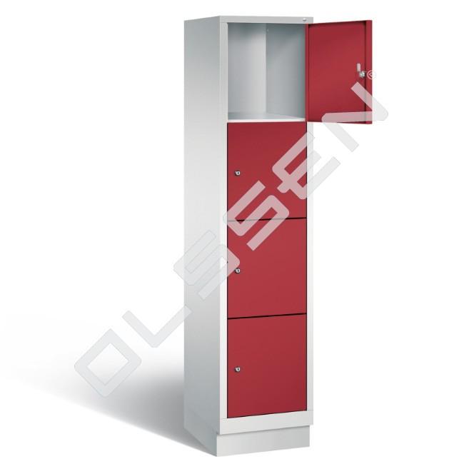 Polar metalen locker met 4 vakken 40 cm breed per vak for Ladeblok 40 cm breed